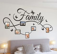 A nice design of a wall decal for the decoration of your living room or bedroom. Brilliant family wall art sticker for your home. Family Wall Decor, Diy Wall Decor, Diy Home Decor, Home Decor Wall Art, Wall Art Designs, Wall Design, Wall Painting Decor, Family Photo Frames, Family Photos