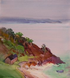 A Concert of Scotland Paintings A few 2007 Scotland Paintings by Stephen Quiller are still available for purchase, and they are listed first. Scenery Paintings, Natural Scenery, Watercolor Landscape, American Art, Scotland, Coastal, Beach, Nature, Rivers