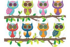 Cute Owl Clip Art ~ Illustrations on Creative Market