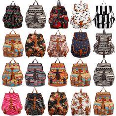 Fashion Women Girl Vintage Cute Flower Floral Bag Bookbag Backpack Schoolbag New #DorasSecret #Bookbag