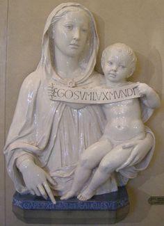 notizie  G.M.: Luca della Robbia,Madonna col bambino che mostra ...