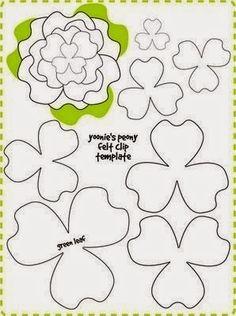 Moldes y diseños de flores en fieltro : cositasconmesh