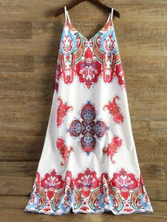 SHARE & Get it FREE | Printed Camisole Midi Dress - White XlFor Fashion Lovers only:80,000+ Items • New Arrivals Daily Join Zaful: Get YOUR $50 NOW!