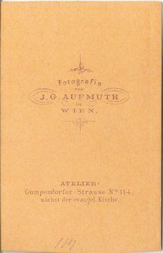 Cdv probabile di Sissi dello studio Aufmuth di Vienna, 1865-1867 circa, dalla mia collezione di foto d'epoca... retro...