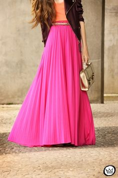 Light pink Chiffon skirt Maxi Skirt Long by originalstyleshop ...