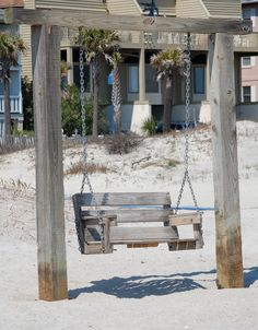 Tybee Island, GA - I can't wait to return here this summer!  I have a pic of me on this very swing!!!
