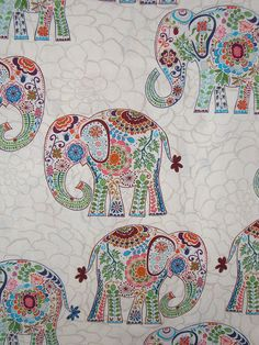 I think this baby is going to like elephants...RemnantMarakech Elephant Print by Valori by fabricsandtrimmings , uh love