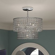 Aurore 4 – Light Crystal Chandelier with Wrought Iron Accents Chandelier Bedroom, Lantern Pendant, Bedroom Lighting, Chandelier Lighting, Iron Chandeliers, Dining Chandelier, Closet Lighting, House Lighting, Wagon Wheel Chandelier