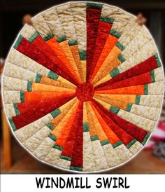Windmill Swirl Table Topper