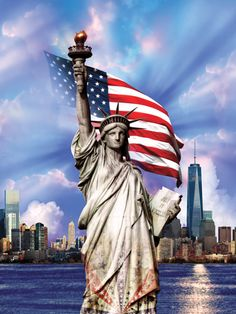 Hoffman-Land That I Love - - Americana - Digital Panel. A Hoffman Spectrum Print (Digital)Panel of Statue of Liberty America Pride, I Love America, God Bless America, America Quotes, America Images, American Flag Wallpaper, Patriotic Pictures, Sea To Shining Sea, Usa Tumblr