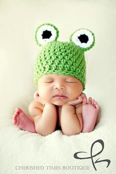frog hat for baby