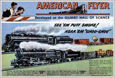Gilbert American Flyer Trains 1953 Large A3 Size Poster Advert Shop Sign Leaflet