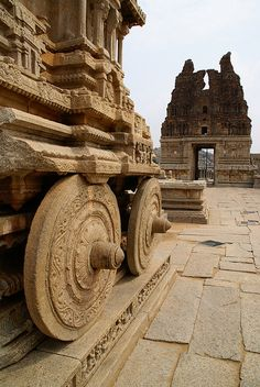 Stone Chariot, Hampi, Karnataka, India,  by clara & james, via Flickr