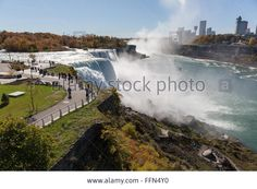 Download this stock image: View of the Horseshoe Falls, at Niagara Falls USA - FFN4Y0 from Alamy's library of millions of high resolution stock photos, illustrations and vectors.