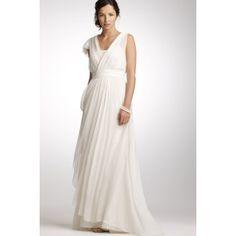 Chiffon Strand Pinsel Schleppe V Ausschnitt Brautkleider