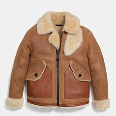 COACH - For Him:  SHEARLING B3 BOMBER JACKET