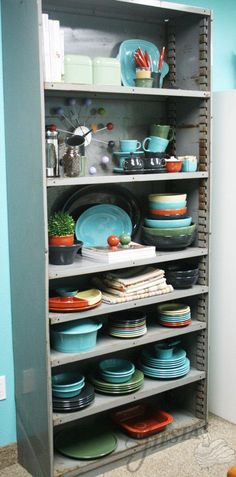 Totally inspired by this retro modern look from Fiesta Dinnerware using colors: Sage, Slate, Paprika, Turquoise, and Ivory.