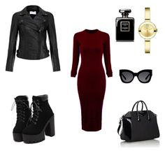 Без названия #4 by elizaveta-kastaleva on Polyvore featuring polyvore, beauty, Karen Walker, Movado, Givenchy, WithChic and MuuBaa