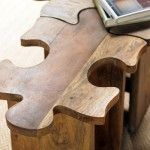 Jigsaw Puzzle Stool by VivaTerra