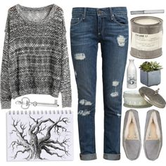 """""""grey."""" by cauchemar-exquis on Polyvore"""