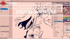 2/3 Digital Inking manga art 2017.07.07