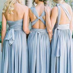 Versa Convertible Long Jersey Dress in Mercury- Davids Bridal