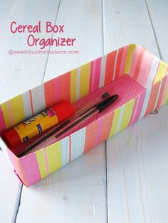 Recycle cereal boxes into Drawer Organizers. Perfect for the office or craft room! sewlicioushomedecor.com