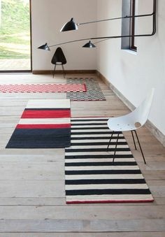 Stripes rugs mix. Mélange collection designed by Sybilla