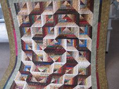 Large Lap Quilt handmade machine quilted by TheRetiredQuilt, $225.00