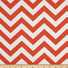 $8.48/yd Premier Prints Zig Zag Chevron Slub Tangelo Horizontal Repeat: 4 Vertical Repeat: 2 Width: 54''