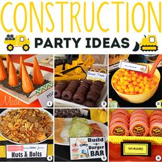 "Construction theme parties are really popular, and with such good reason. They're fun to plan and even more fun to attend! There are tons of great construction party ideas out there – here are some of my faves: CONSTRUCTION THEME FOOD & DRINKS 1. Ice cream cones as ""pylons"" – via VixenMade ..."