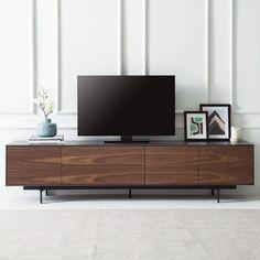 TV-Lowboard Payara Walnuss / Schwarz Fashion For Home Tv Stand Decor, Tv Decor, Home Decor, Tv Wall Design, Tv Unit Design, Tv Console Design, Living Room Wall Units, Living Room Designs, Tv Stand Designs