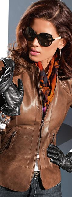 Madeleine Fall 2014 ● Madeleine Leather Jacket in Brown