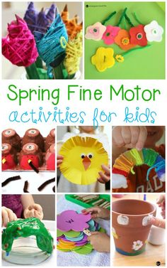Fine motor skills are essential for the day-to-day tasks we do. Kids will have a blast creating and completing these spring fine motor activities! #finemotor #finemotoractivities #kidscrafts #preschool #kindergarten