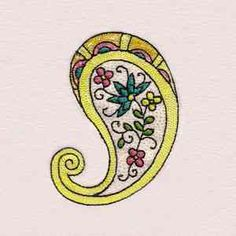 Buy Individual Embroidery Designs from the set Floral Paisley