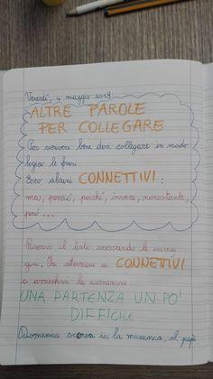 Laboratorio di scrittura: i connettivi-Classe Terza- Italiano-Maggio - Maestra Anita Bullet Journal, Teacher, Education, Math, School, 3, Anna, Firenze, Alphabet