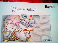 Radhe-krishna drawing