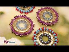 Como adornar medallón tejido murano con Swarovski y borlas Kit 26642 | VARIEDADES CAROL - YouTube