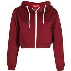 Lorraine Crop Hoody ($17) ❤ liked on Polyvore featuring tops, hoodies, jackets, crop top, cropped hoodies, hoodie crop top, sweatshirt hoodies and red top
