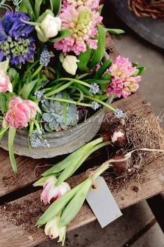 Beautiful Spring flowers to adorn any table or spot in time for Easter.