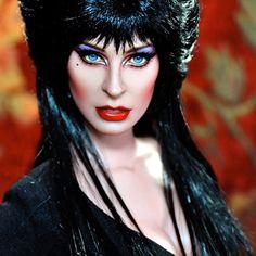 Beautiful Elvira repaint portrait doll by Noel Cruz. See his fabulous work @ http://www.ncruz.com