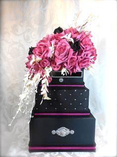 Wedding Card Box Elegantly Created, wedding card box, gift card box, box, money card box, card box for wedding, wedding. $132.00, via Etsy.