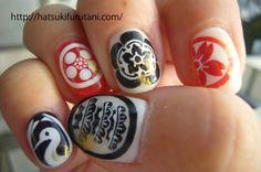The work of nail art by hatsuki furutani, a Tokyo based manicurist http://hatsukifurutani.com/  http://instagram.com/hatsukifurutani# http://ams-ebisu-place.blogspot.jp/ http://hatsukifurutani.tumblr.com/  #nail, #nails, #nailart, #naildesign, #beauty, #makeup, #fashion, #art, #nailaddict, #polish, #manicure, #manicurist, #creepy, #weired, #japan, #samurai, #kamon