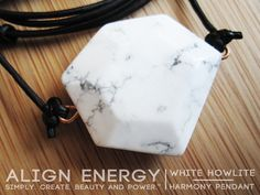 """White Howlite is a stone of inner and outer calm best known for harmonizing negative and discordant energies in one's surroundings - dissipating anger, abrasiveness, and pain, and freeing the space for healing, hope, and positive progress. While esoterically linked to the Soul Chakra and the resultant removal of limiting energies, Howlite also cultivates and maintains a uniquely subtly connection to the calming, stabilizing, and protective energies of the Earth Chakra."" www.AlignEnergy.net"