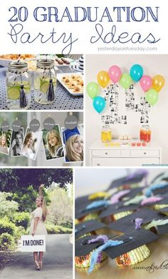 Grad Party Ideas. Lots of cute ideas for the grad in your life. Have some fun celebrating graduation this year! #graduation #grad #classof