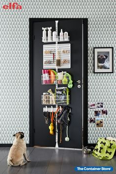 Our Elfa Door & Wall Racks can help you keep all your pooch supplies in one place. Walking your dog will be easier than ever before!