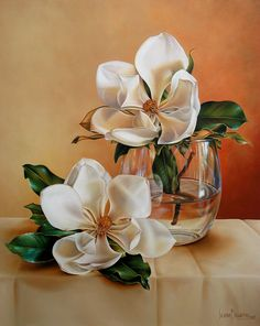 collection of images Rose Oil Painting, Painting & Drawing, Watercolor Paintings, Arte Floral, Acrylic Flowers, Magnolia Flower, Flower Oil, Vintage Flowers, Art Oil