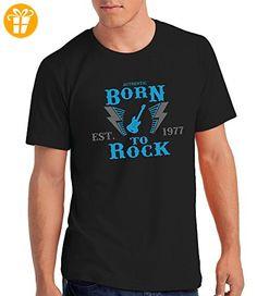 """""""Born to Rock, Est. 1977"""" - Geschenk T Shirt zum 40. Geburtstag, Herren: SaCg, XL (*Partner-Link)"""