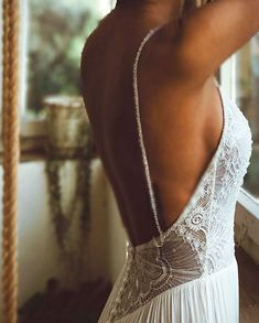 low back I sexy back I beaded top I Flora I Flora bridal I real brides I happy m. - Wedding Outfit low back I sexy back I beaded top I Flora I Flora bridal I real brides I happy m. Luxury Wedding Dress, Dream Wedding Dresses, Bridal Dresses, Wedding Beauty, Wedding Dress Low Back, Beaded Wedding Dresses, Backless Wedding Dresses, Lace Weddings, Timeless Wedding Dresses