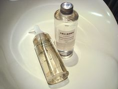 muji cleansing oil and light toning water